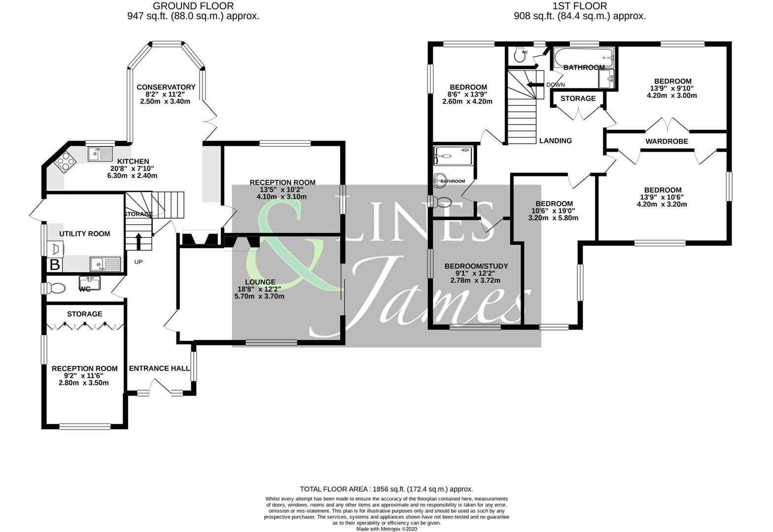 Floorplan for Newpound Lane, Billingshurst